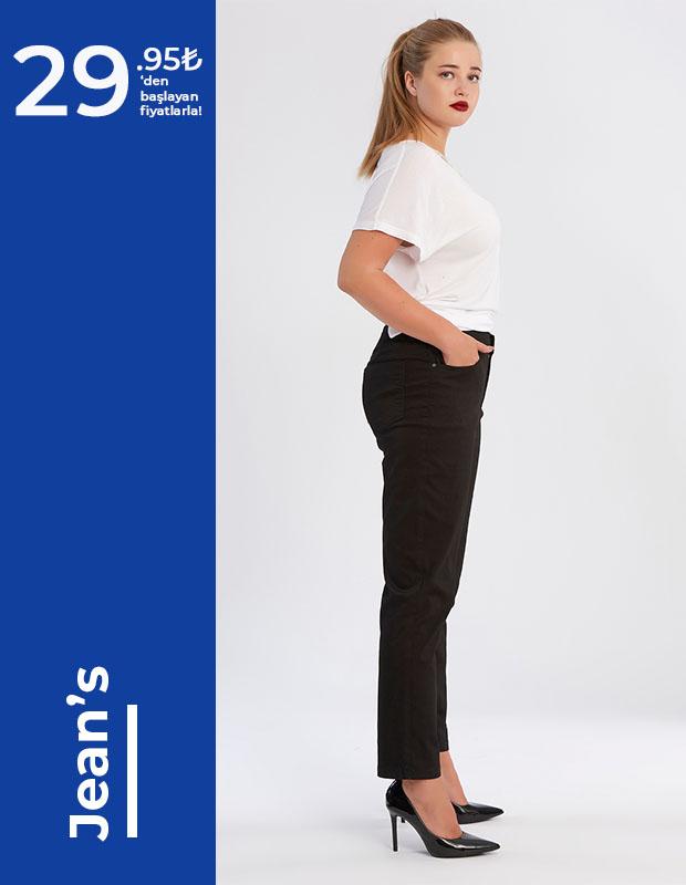 Büyük Beden kot pantolon modelleri
