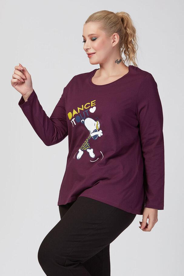 DANCE IT OUT Snoopy Uzun Kollu Tişört