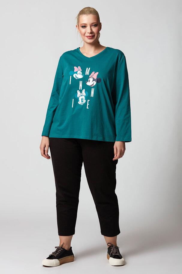 Happy Minnie Mouse Yuvarlak Yaka Tişört