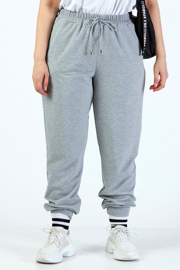JOGGER TROUSERS WITH ELASTIC HEMS