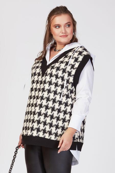 Büyük Moda - KAZAYAĞI DESENLİ TRİKO SÜVETER (1)