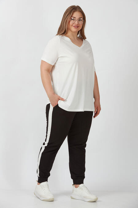 Büyük Moda - KONTRAST BANTLI EŞOFMAN ALTI (1)