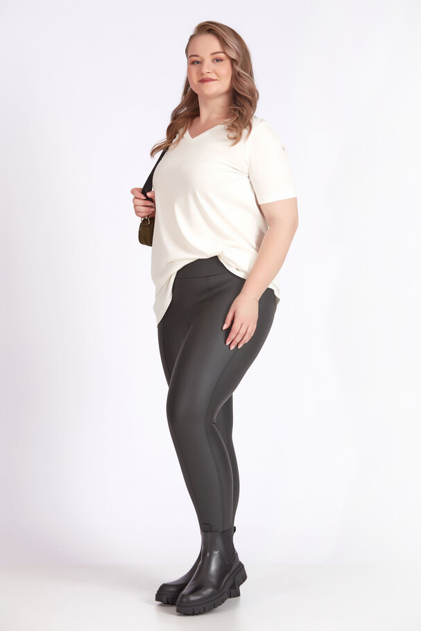 LEATHER LEGGINGS WITH SOFT BRUSHED INSIDE