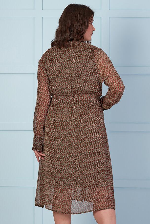 LONG CHIFFON SHIRT DRESS