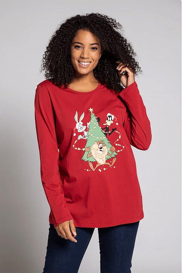 Looney Tunes Noel Ağacı Yuvarlak Yaka Tişört