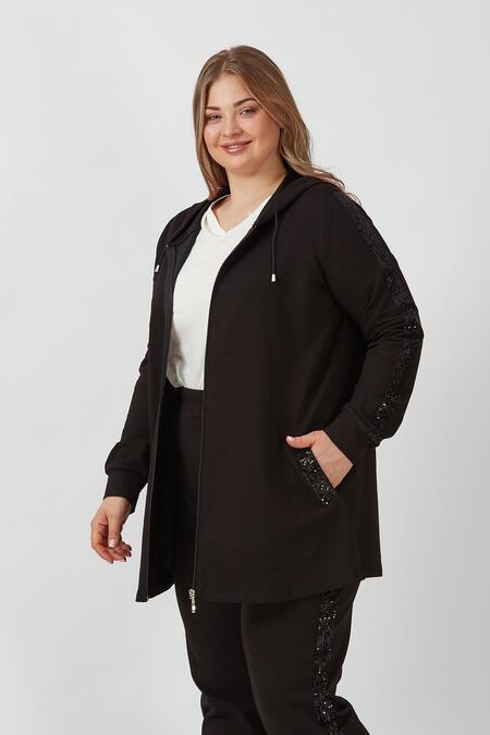 Büyük Moda - PAYETLİ EŞOFMAN HIRKA (1)