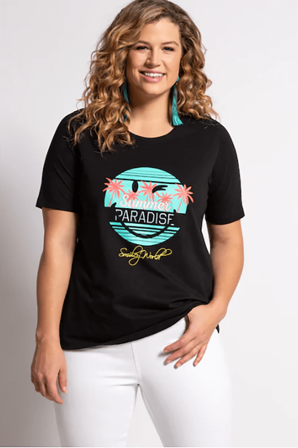 Summer Paradise Smile Kısa Kollu Tişört