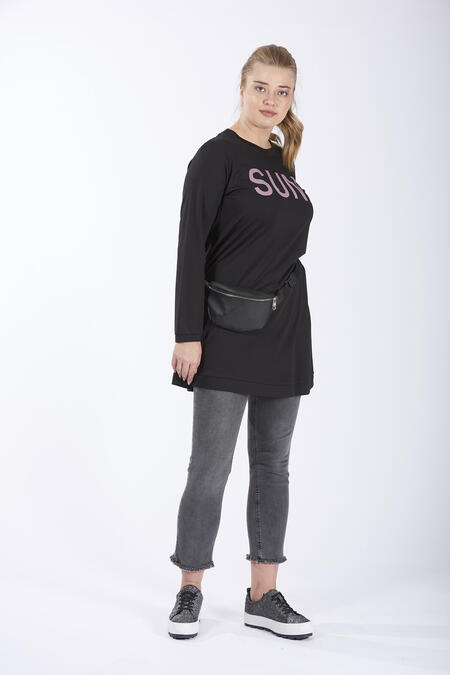 Büyükmoda - SUNDAY BASKILI SWEATSHIRT (1)