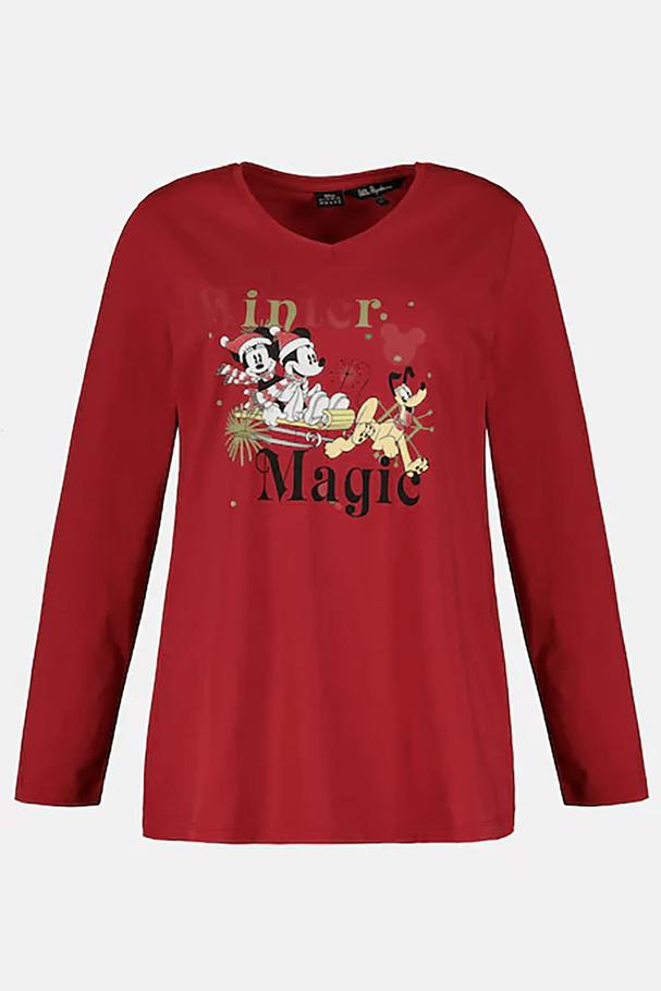 WINTER MAGIC Mickey Mouse V Yaka Tişört