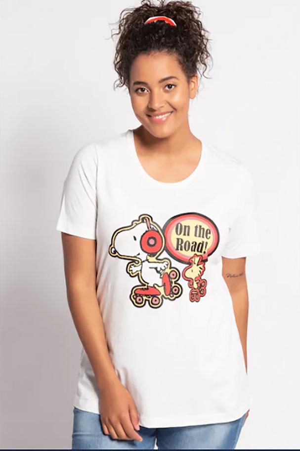 YOLDA Snoopy Classic Fit Yuvarlak Yaka Tişört
